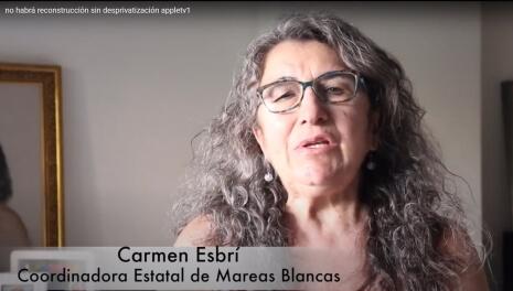 Carmen Esbrí, Coordinadora Estatal de Mareas Blancas