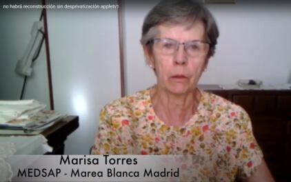 Marisa Torres, MEDSAP - Marea Blanca Madrid