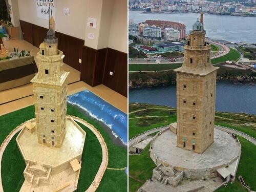 Torre de Hércules. Maqueta con piezas de Exin Castillos, realizada por Fran Guerra