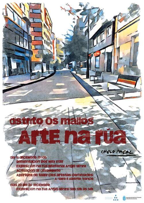 Cartaz Distrito Os Mallos Arte na rúa