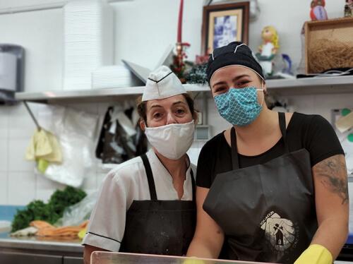 María Lebedynski, en el Mercado As Conchiñas