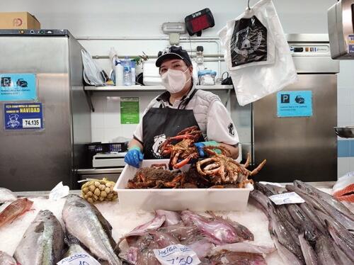 Pescadería Mónica y Luis, en Mercado As Conchiñas