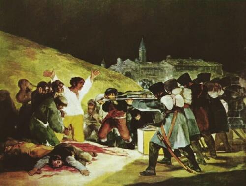 Los fusilamientos del 2 de mayo, de Goya