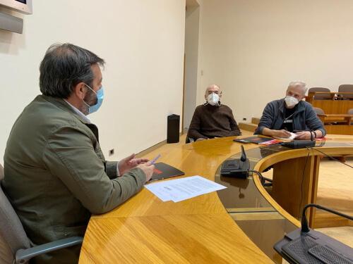 Reunión Rede Acampa con Luis Bará, deputado do BNG