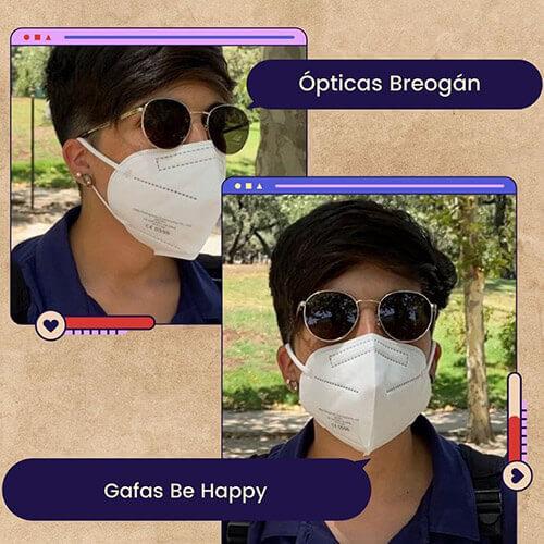 Gafas Be Happy, cedidas por Centro Óptico Breogán
